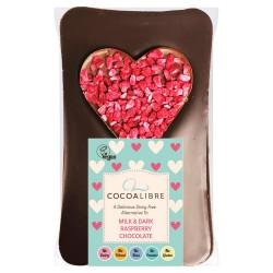 Heart Raspberry Chocolate Slab 90g | Dairy Free Vegan