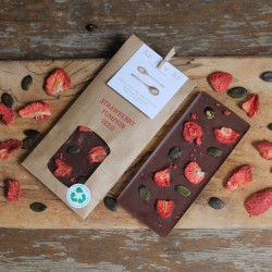 Strawberry & Pumpkin Seed Dairy Free Chocolate Bars | Set of 3 Bars