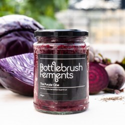 Raw & Lacto-Fermented Sauerkraut | Red Cabbage, Beetroot & Caraway (500g)