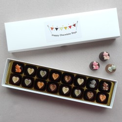 You're Purrfect! Personalised Chocolates Decorated with Cute Cats (Box of 16)