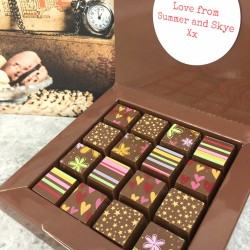 Personalised Chocolates with Stripes, Hearts, Flowers and Stars