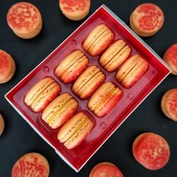 Sparkling Mango Macarons