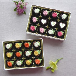Roses & Ivy - Personalised Heart Shaped Chocolates