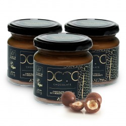 Gift Set of 3 Chocolate Spreads with Roasted Hazelnuts