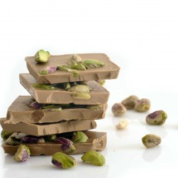White Vegan Chocolate with Pistachios and Salt (Buy in Weight)