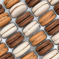 Brown Macaron Selection (Tray of 24)