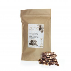 White Vegan Chocolate Slab with Roasted Hazelnuts (Buy in Weight) 1KG