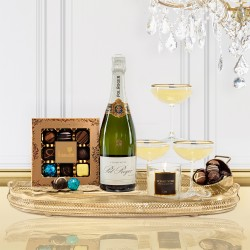 Luxury Pol Roger Champagne Christmas Gift Box