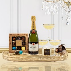 Luxury Taittinger Champagne Christmas Gift Box
