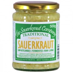 Traditional Unpasteurised Sauerkraut | Teeming with Friendly Bacteria (500g)