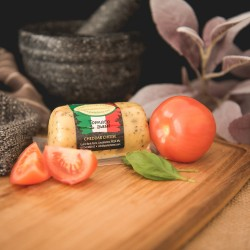 Tomato and Basil Cheddar Barrel (145g)