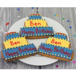 Personalised Birthday Cake Biscuits (Pack of 10)