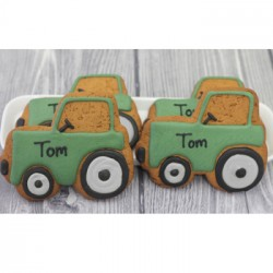 Personalised Tractor Biscuits (Pack of 10)
