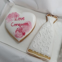 Wedding Dress Biscuit Set