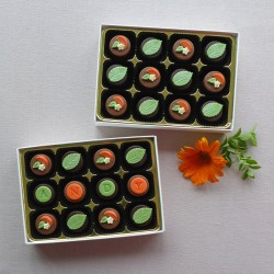 Orange & Mint Chocolate Duo - Personalised Chocolates flavoured with orange and mint essential oils