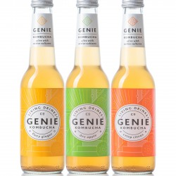 Genie Kombucha: Mixed Case (12 bottles, 3 varieties)