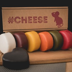 Colourful Rainbow Cheese Gift Box (Box of 7)