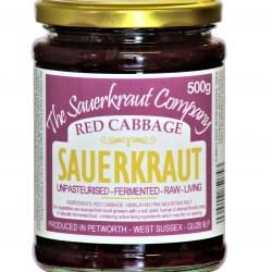 Red Cabbage Sauerkraut Unpasteurised & Teeming with Friendly Bacteria (500g)