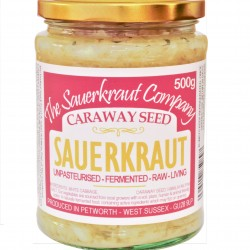 Sauerkraut with Caraway Seed Unpasteurised & Teeming with Friendly Bacteria (500g)