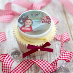Personalised Photo Cupcake Toppers (Pack of 12)