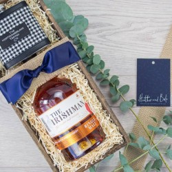The Irishman Whiskey Trough Gift Box With Flask