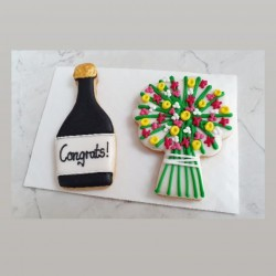 Personalised Congrats Biscuit Gift Set