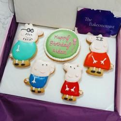Peppa Pig Personalised Biscuit Set (Box of 5)