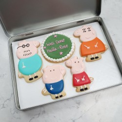Peppa Pig Personalised Biscuit Set (Box of 5)