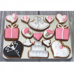 Wedding Biscuit Gift Tin (Box of 15)