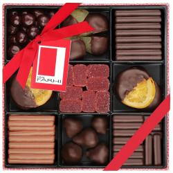 Belgian Chocolate Fruit Selection in a Nine-Way Gift Box