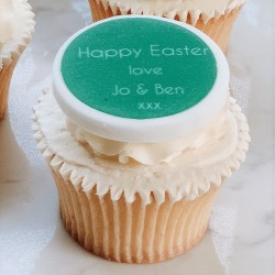 Personalised Easter Cupcake Toppers (Pack of 12)