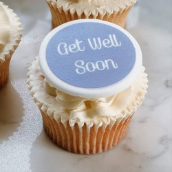 Personalised Get Well Soon Cupcake Toppers (Pack of 12)
