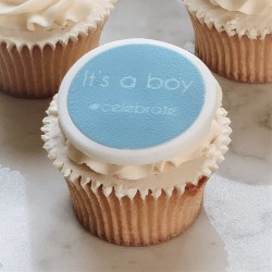 Personalised It's A Boy Cupcake Toppers (Pack of 12)