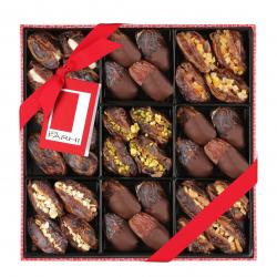 Vegan Belgian Chocolate & Stuffed Medjool Date Selection in a Gift Box
