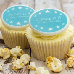 Personalised Birthday Boy Cupcake Toppers (Pack of 12)
