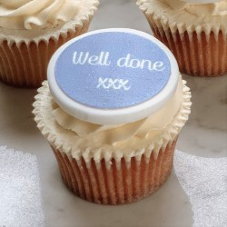 Personalised Well Done Cupcake Toppers (Pack of 12)