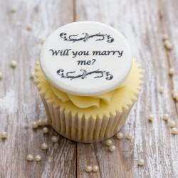 Personalised Will You Marry Me Cupcake Decorations (Pack of 12)