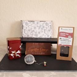Christmas Spice Tea and Orange Vegan Chocolate Gift Hamper Box