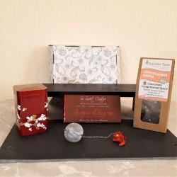 Chocolate Gingerbread Spice Tea and Ginger Dragon Vegan Chocolate Gift Hamper Box