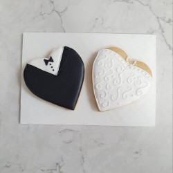 Wedding Biscuit Set - Tux & White Dress