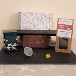 Black Tea and Vegan Chocolate Lovers Gift Hamper Box