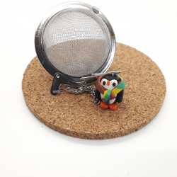 Penguin Loose Leaf Tea Infuser, Handmade Charm Tea Ball
