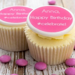 Personalised Birthday Celebrate Cupcake Toppers (Pack of 12)