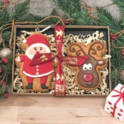 Christmas Santa & Reindeer Gingerbread Gift Pack Duo