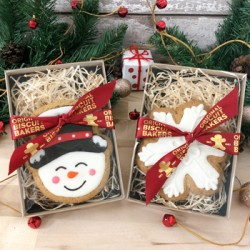 Christmas Snowman & Snowflake Gingerbread Gift Pack Duo