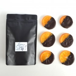 Hand-Dipped Dark Chocolate Candied Orange Slices-Festive Edition