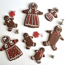 Hand-Decorated Gingerbread Cookies