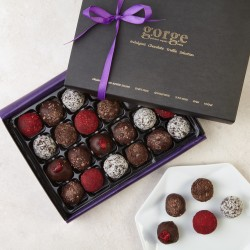 Indulgent Selection Box - 24 Raw Organic Chocolate Truffles