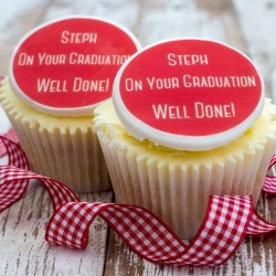 Personalised Graduation Cupcake Toppers (Pack of 12)