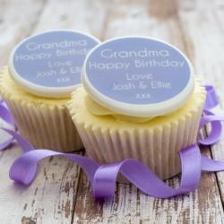 Personalised Grandma Birthday Cupcake Toppers (Pack of 12)